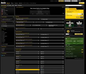 Los Angeles Kings @ BWin Bookmaker