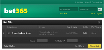 TryggLade @ Bet365 Bookmaker