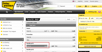 Paris SG @ Interwetten Bookmaker