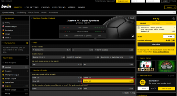 Blyth Spartans @ BWin Bookmaker