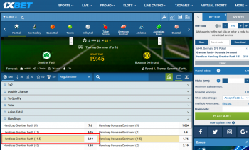 Greuther Furth @ 1xBet Bookmaker